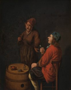 The Smoker and the Drinker | Hubert van Ravesteyn | Oil Painting