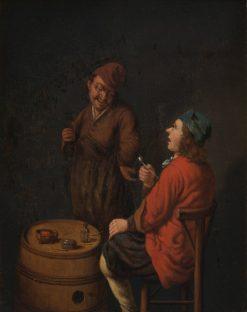 The Smoker and the Drinker   Hubert van Ravesteyn   Oil Painting