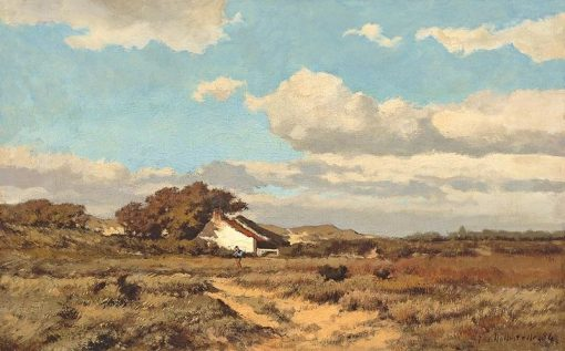 Hill in Domburg | Jacob Huijbrecht Hollestelle | Oil Painting