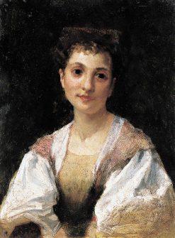 A Young Italian Lady | Hendryk Siemiradzki | Oil Painting