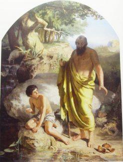Diógenes shattering bowl | Hendryk Siemiradzki | Oil Painting