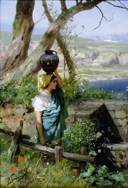 At the Well | Hendryk Siemiradzki | Oil Painting