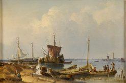 Kleine Reede auf der Schelde | Karl Adloff | Oil Painting