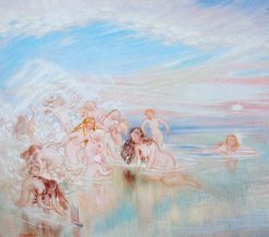 Nymphs at the Seashore | William Shackleton | Oil Painting