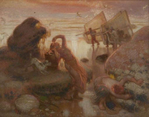 Mussel Gatherers   William Shackleton   Oil Painting