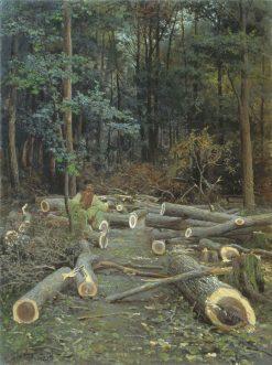 The Woodcutter | Viktor Baturin | Oil Painting