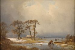 Winter Landscape | Carl Hilgers | Oil Painting