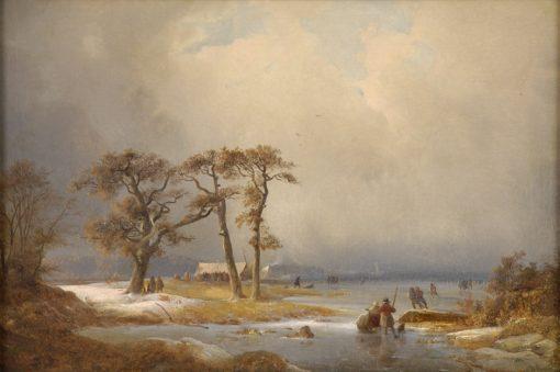 Winter Landscape   Carl Hilgers   Oil Painting