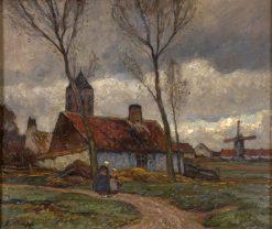 Flemish village | Eugen Kampf | Oil Painting