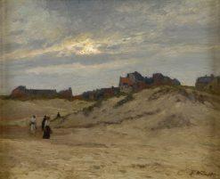 Beach of Katwijk | Eugen Kampf | Oil Painting