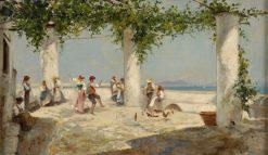 Tarantella   Oscar Ricciardi   Oil Painting