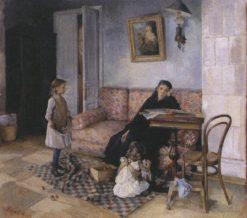 Orphans   Antonina Rzhevskaya   Oil Painting