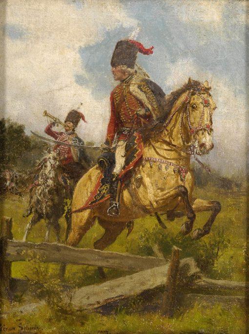 The Battle   Werner Schuch   Oil Painting