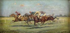 The Finish   Constantin Stoiloff   Oil Painting