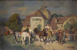 The Horse Market | Wilhelm Velten | Oil Painting