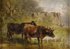 The Watering Place | Fredrich Johann Voltz | Oil Painting
