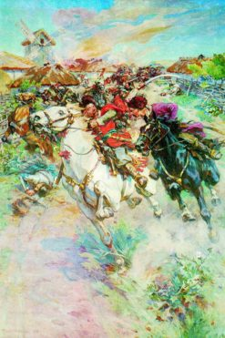 The Battle of Ivan Bogun with a Polish Magnate | Nikolai Samokish | Oil Painting