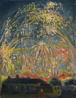 Fireworks in Nice | Nicolas Tarkhoff | Oil Painting