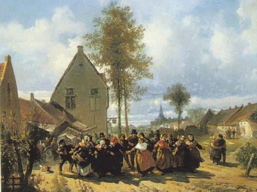 Women Racing   Florent Nicolas Crabeels   Oil Painting