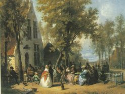 Village Festivities | Florent Nicolas Crabeels | Oil Painting