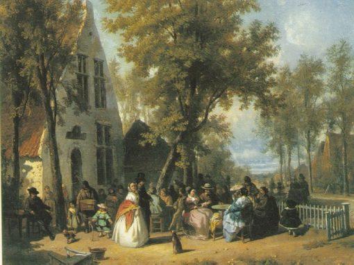 Village Festivities | Florent Nicolas Crabeels | Oil Painting