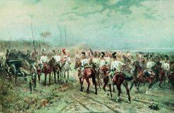The Return of Russian Cavalrymen after the Battle of Austerlitz | Nikolai Samokish | Oil Painting
