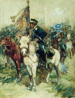 The Rider with a Banner | Nikolai Samokish | Oil Painting