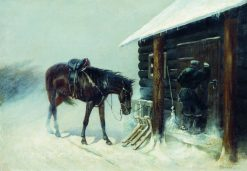The Shelter | Nikolai Samokish | Oil Painting