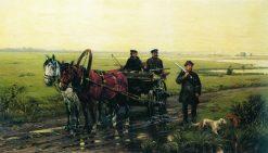 A Hunting Scene | Nikolai Samokish | Oil Painting