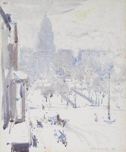 Charlotte Square in Winter | Francis Campbell Boileau | Oil Painting