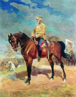 Grand Duke Nicholas on Horseback | Nikolai Samokish | Oil Painting