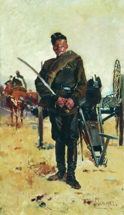A Russian Soldier | Nikolai Samokish | Oil Painting