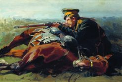 Cossack Shooting | Nikolai Samokish | Oil Painting