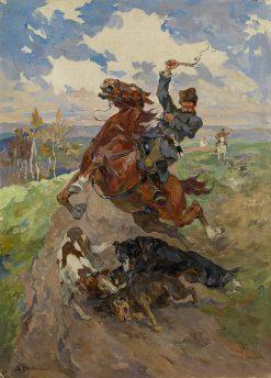 Hunting Scene | Nikolai Samokish | Oil Painting