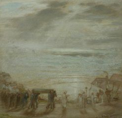 The Sailors Funeral   William Shackleton   Oil Painting