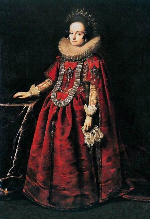 Portrait of Anne Catherine Constance Vasa   Peter Danckerts de Rij   Oil Painting