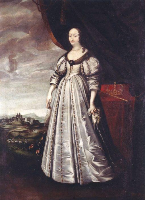 Portrait of Marie Louise Gonzaga de Nevers | Peter Danckerts de Rij | Oil Painting