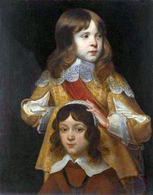 Portrait of Prince Sigismund Casimir Vasa and his Brother | Peter Danckerts de Rij | Oil Painting