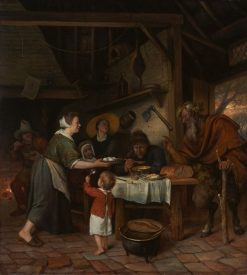 The Satyr and the Peasant Family | Jan Havicksz. Steen | Oil Painting