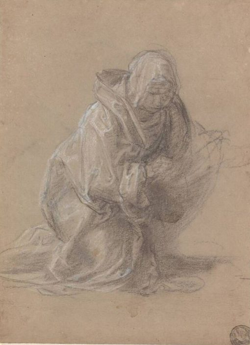 Study of a Kneeling Woman | Fra Bartolomeo | Oil Painting
