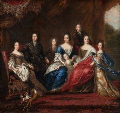 Charles XIs family with relatives from the duchy Holstein-Gottorp | David Klocker Ehrenstrahl | Oil Painting