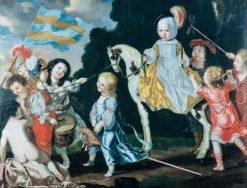 Children Playing | David Klocker Ehrenstrahl | Oil Painting