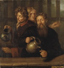The Well-Master at Medevi and His Two Sons | David Klocker Ehrenstrahl | Oil Painting