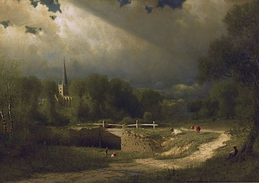 The Approaching Storm | James Fairman | Oil Painting