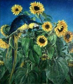 Macaw and Sunflowers | William Bruce Ellis Ranken | Oil Painting