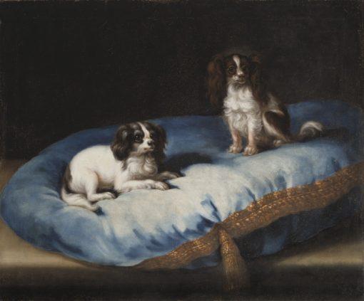 Two Dogs   David Klocker Ehrenstrahl   Oil Painting