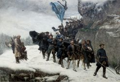 Bringing Home the Body of King Karl XII of Sweden | Gustaf Cederstrom | Oil Painting