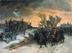 Victory at Narva | Gustaf Cederstrom | Oil Painting