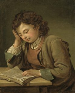 A Boy Reading | Per Krafft the Elder | Oil Painting