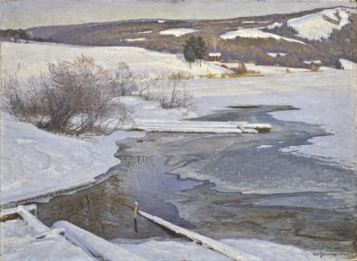 A Cold September Day in Medelpad   Carl Johansson   Oil Painting